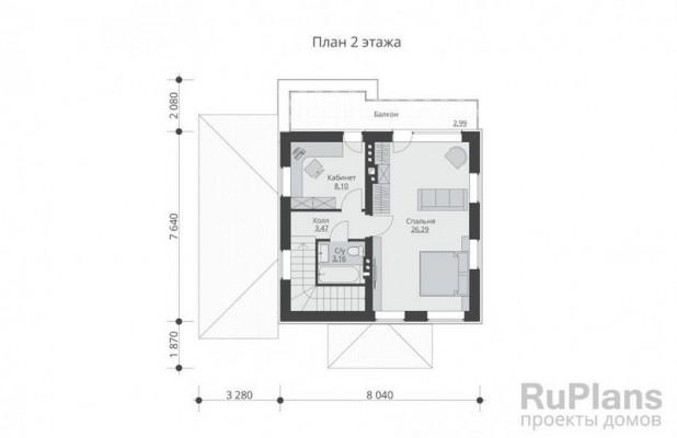 Дом 9,8 x 10,8